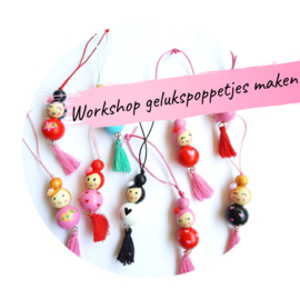 Workshop gelukspoppetjes maken, zaterdag 10-07-2021 om 13.00