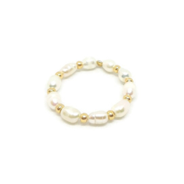 Ring ''little pearl'' gold