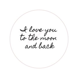 Stickers ''love you to the moon'' 8 stuks