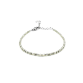 Armband ''miyuki'' 2mm silver