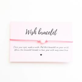 Wish-bracelet ''heart'' pink