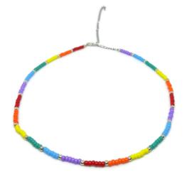 Little beads ketting ''rainbow'' 3, handmade