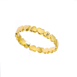 Ring stainless steel ''little hearts'' gold