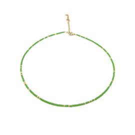 Ketting ''miyuki'' 2mm green