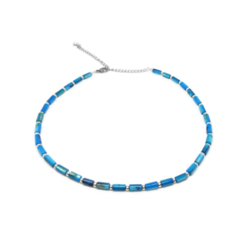 Ketting met schelpkralen ''light blue''
