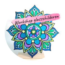 Workshop glasschilderen, zaterdag 30 oktober van 13.30-15.30