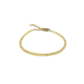 Armband ''miyuki'' 2mm metallic gold