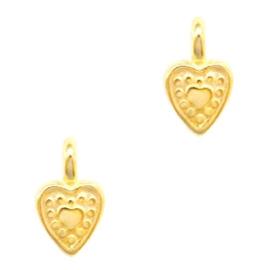 Mini bedel ''heart'' goud 1 stuk