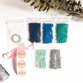 DIY-pakket armbandjes maken ''3mm kralen'' blue colors