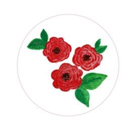 Stickers ''rose'' 8 stuks