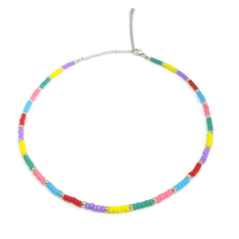 Little beads ketting ''happy colors'' handmade
