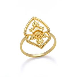 Ring bohemian stainless steel ''boho 2'' gold