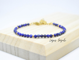 Edelsteen armband ''Lapis lazuli'' 925 silver or gold plated