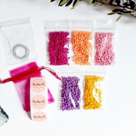DIY-pakket armbandjes maken ''3mm kralen'' happy colors