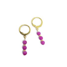 Ringoorbellen ''jade'' purple, goud