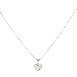 Ketting ''be kind'' stainless steel, zilver