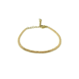 Armband ''miyuki'' 2mm gold