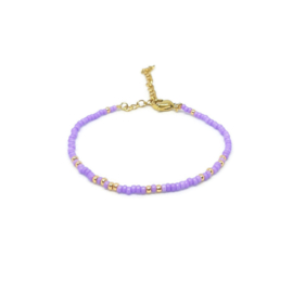 Armband ''miyuki'' 2mm lila