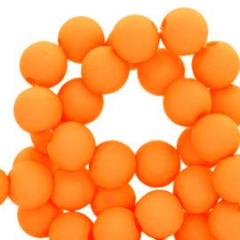 Acryl kralen 4mm, orange
