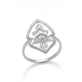 Ring bohemian stainless steel ''boho 2'' silver