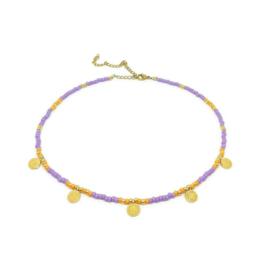 Happy bohemian necklace ''purple & orange''