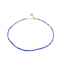 Ketting ''miyuki'' 2mm blue