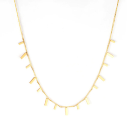 Ketting stainless steel ''tiny bars'' gold