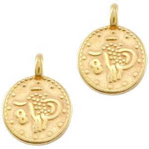Mini coin bedel, goud 1 stuk