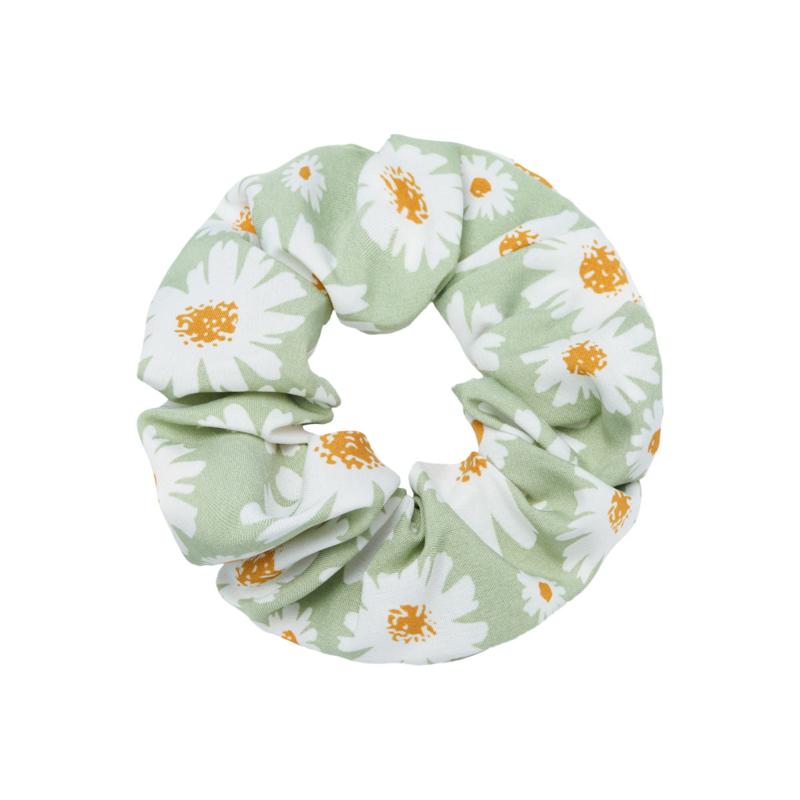 Scrunchie ''flowerpower'' green