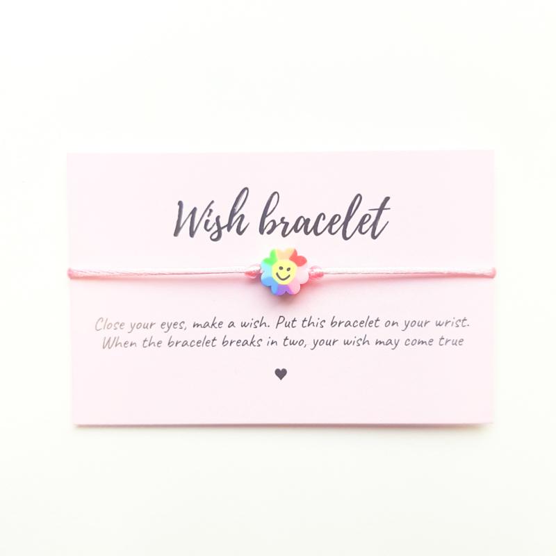 Wish-bracelet ''rainbow smiley''