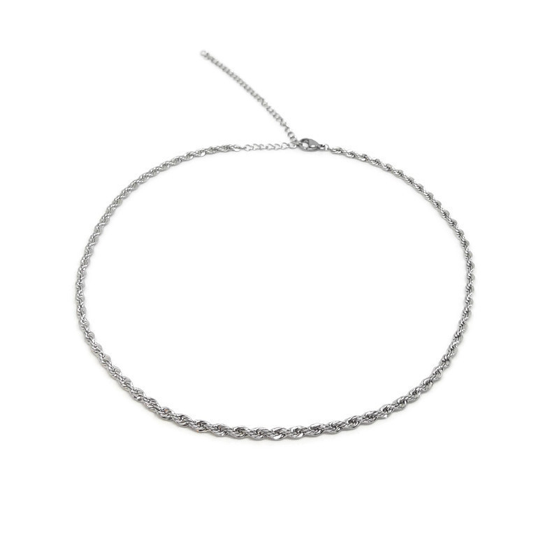Ketting ''swirl chain'' stainless steel, silver