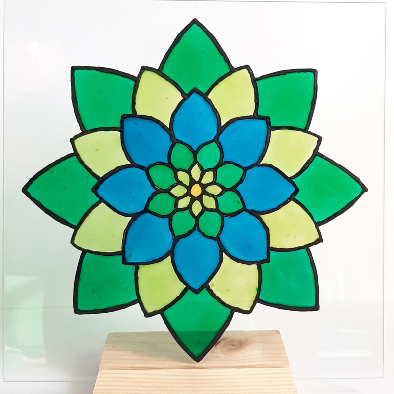 Glasschildering ''mandala''