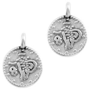 Mini coin bedel, zilver 1 stuk