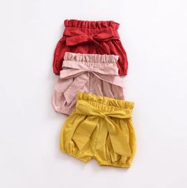 Bloomer met strik - rood, geel en roze