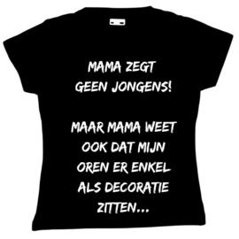 T-shirt / Longsleeve geen jongens