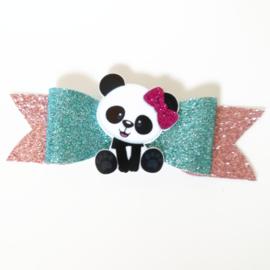 Haarclip small pandabeer