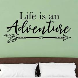 Muursticker - life is an adventure