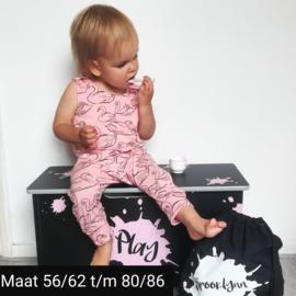 Jumpsuit roze zwaan