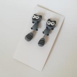 Kinder oorbellen - grijs