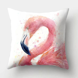 Sierkussenhoes flamingo