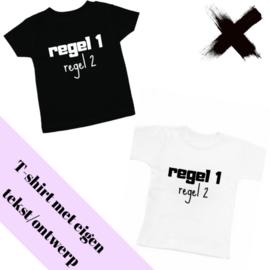 T-shirt/Longsleeve eigen tekst