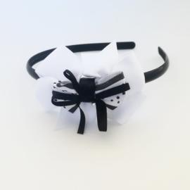 Diadeem - zwart/wit