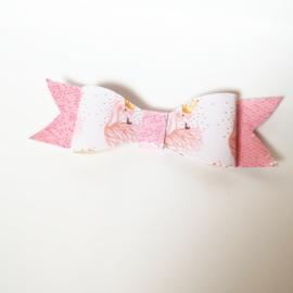 Haarclip small - flamingo