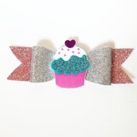Haarclip small cupcake