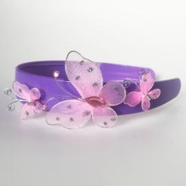 Diadeem breed - vlinders