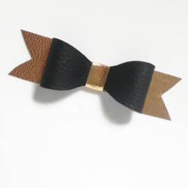 Haarclip small - goud/zwart