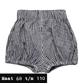 Zwart/wit korte broek - geruit