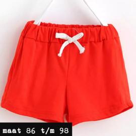 Oranje/rood korte broek