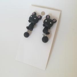 Kinder oorbellen - zwart