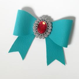 Haarclip small - aqua blauw